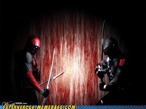 Awesome Art deadpool GI Joe Snake Eyes - 6288718080