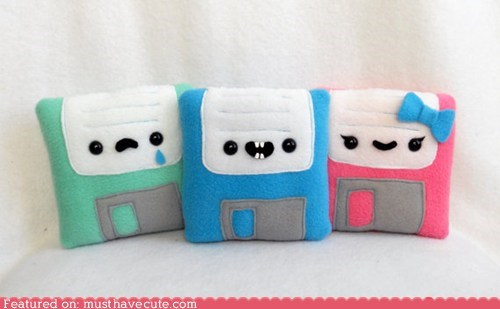 adorable,best of the week,faces,floppy disks,Plush