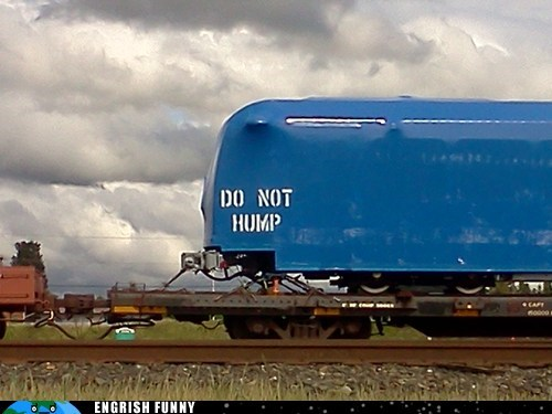 blue tarp do not hump hump tarp train