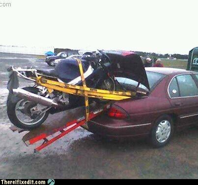Car Trunk motorcycle oversize load trailers trunk