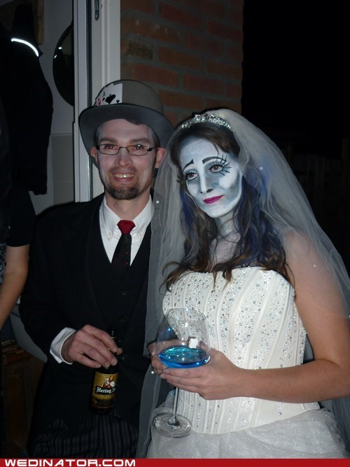 funny wedding photos wedding dress zombie - 6289353216