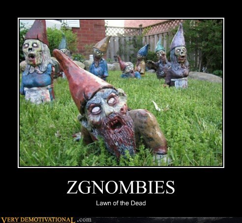 gnomes,hilarious,lawn,zombie
