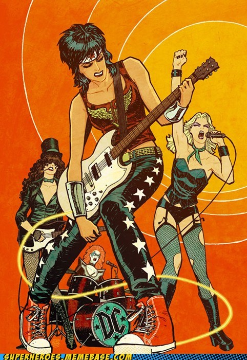 Awesome Art Black Canary DC girls joan jett rocking wonder woman zatanna - 6291099392