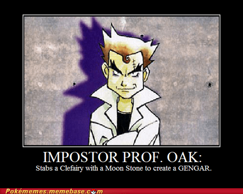 gengar impostor oak moon stone pokémon card the internets - 6291400192