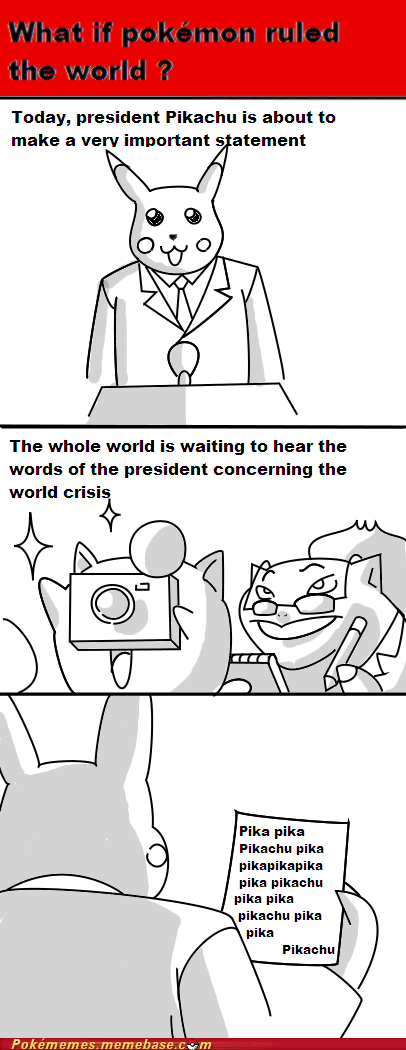 bulbasaur,comic,pikachu,president,what if