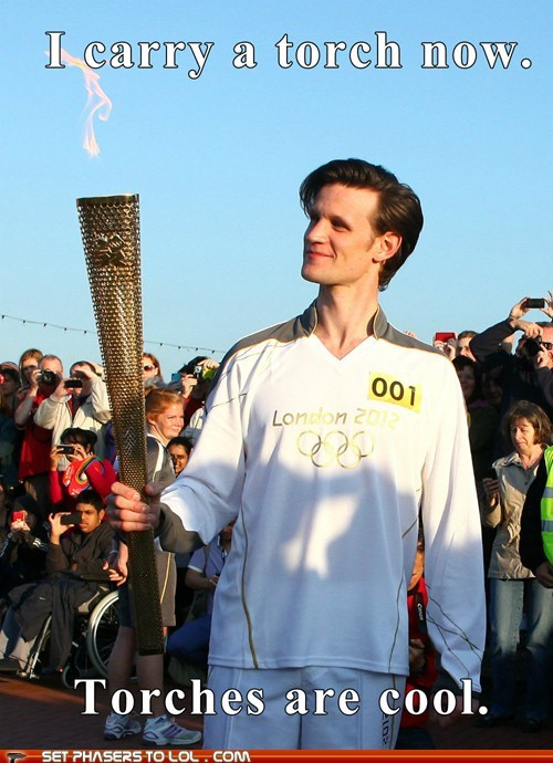 2012 London Olympics,best of the week,cool,doctor who,Matt Smith,olympic torch,the doctor,torch