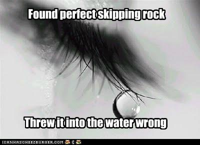 emolulz First World Problems rocks skipping water - 6291851520