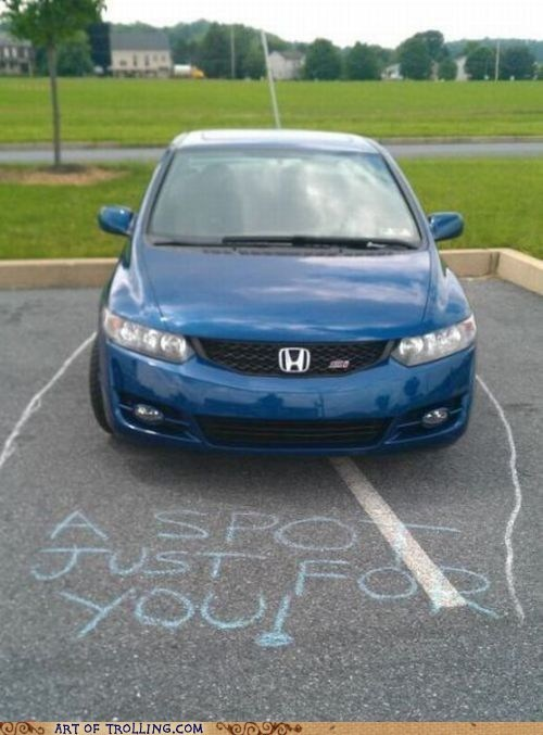 parking spot,parking like a douche,funny,parking
