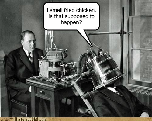 experiment,fried chicken,helmet,medicine,science