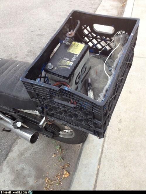 basket battery groceries motorcycle storage - 6293431552