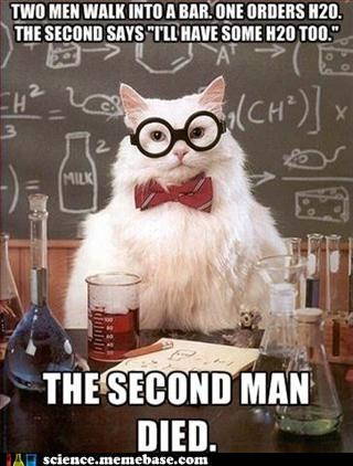 bad joke,Chemistry,chemistry cat,h2o2