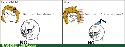 no,parenting,Rage Comics,shower