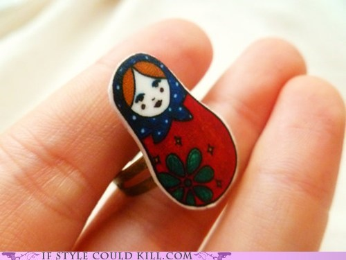 cool accessories,matroyshka,rings,russia