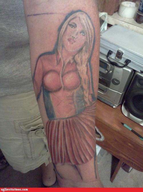 arm tattoos blonde skirt - 6294574080