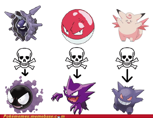 clefairy,Death,evolutions,gengar,Memes