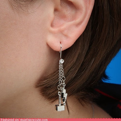 accessories earrings hammer Jewelry lightning Thor - 6295627520