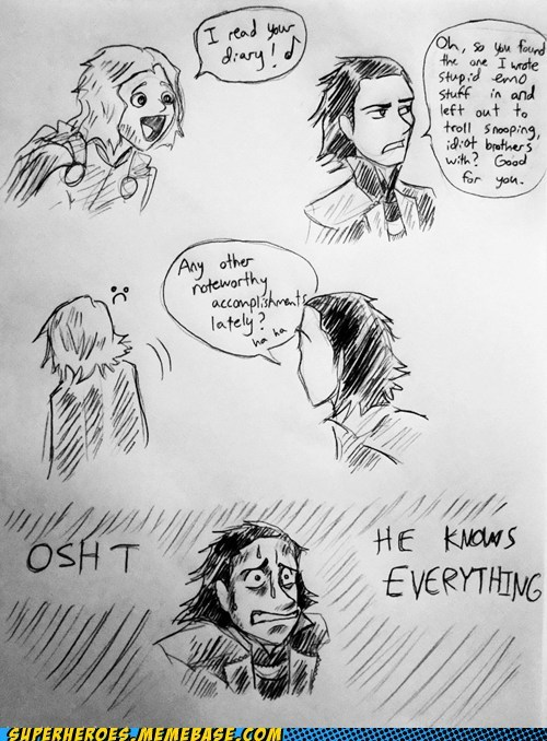 Awesome Art diary emo loki Thor wtf - 6295794688
