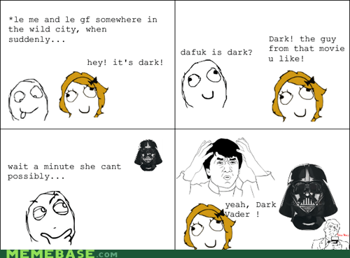dark vader darth vader girls Rage Comics