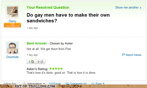 gay sandwiches Yahoo Answer Fai Yahoo Answer Fails - 6296294912