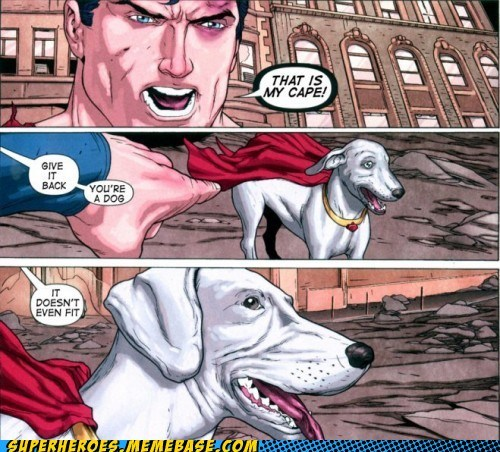 dogs,krypto,Meltdown,Straight off the,Straight off the Page,superman