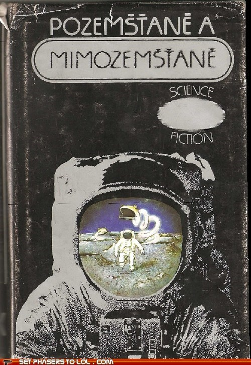 alien,astronauts,book covers,books,cover art,czech,earthlings,muppet,science fiction,snake,space,wtf
