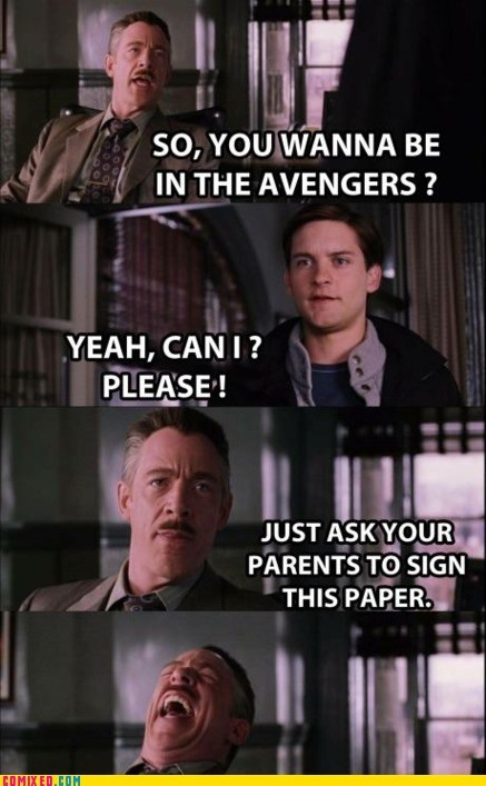 From the Movies parents Spider-Man The Avengers