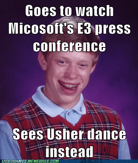 bad luck brian dance central e3 meme usher - 6296665088