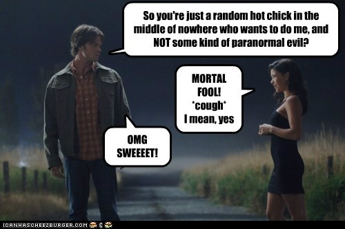 crossroads demon dumb evil fool Jared Padalecki paranormal sam winchester Supernatural trap - 6296670720
