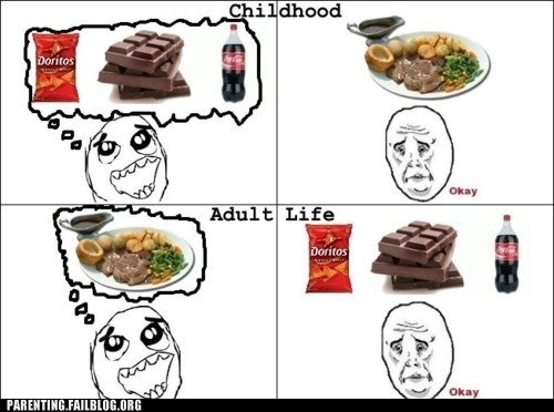 adult life childhood food tastes - 6296727040