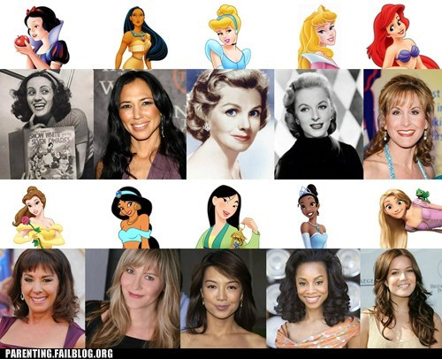 actresses cartoon voices disney princesses