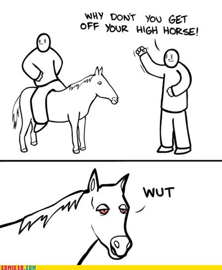 high horse,pun,stoner,the internets