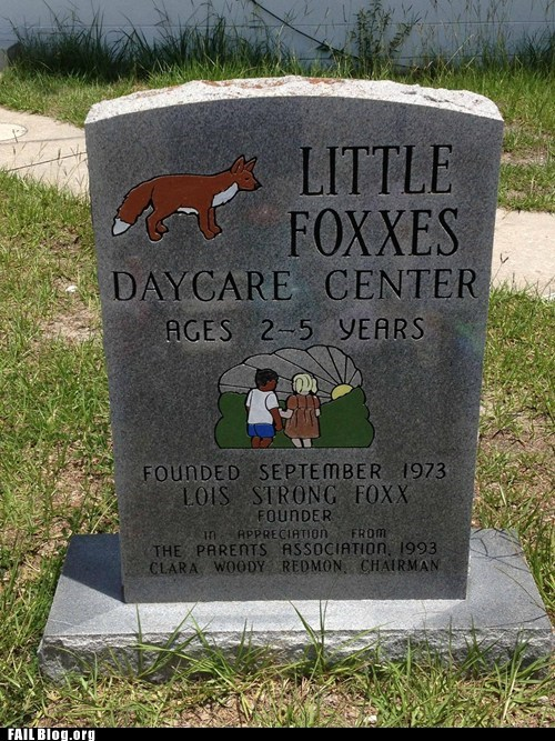 daycare,headstone