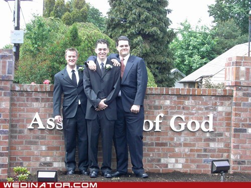 church,funny wedding photos,groom,Groomsmen