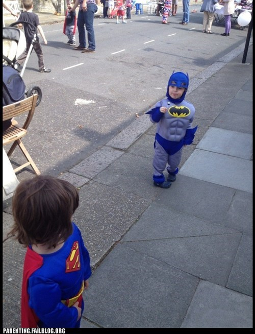 batman,kids in costumes,superman