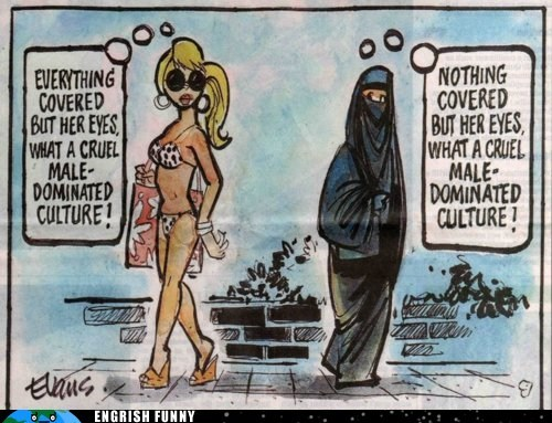 bikini burqa Hall of Fame hijab islam male-dominated culture muslim niqab - 6296829696
