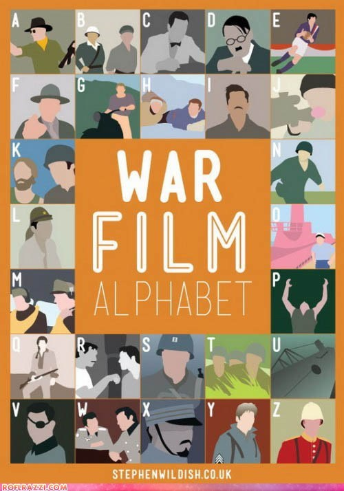 alphabet art film poster war - 6296904192