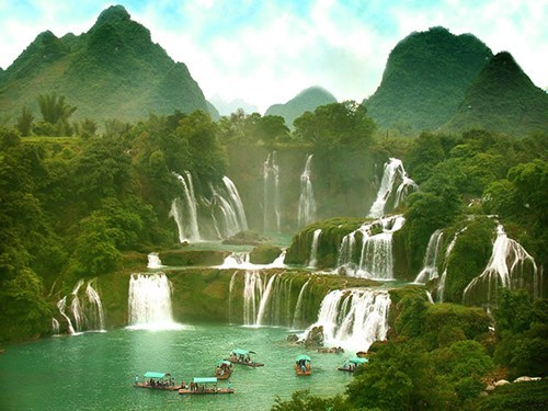 asia,lake,mountain,Vietnam,waterfall
