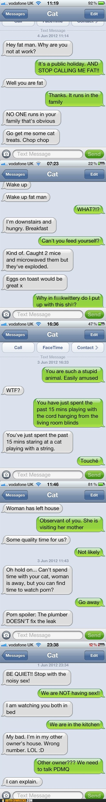 AutocoWrecks,Cats,g rated,iPhones,only a matter of time,texts from cat