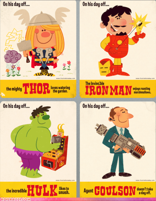 art,funny,hulk,illustration,iron man,Movie,The Avengers,Thor
