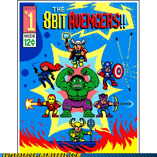 8 bit avengers Awesome Art comic - 6297126912