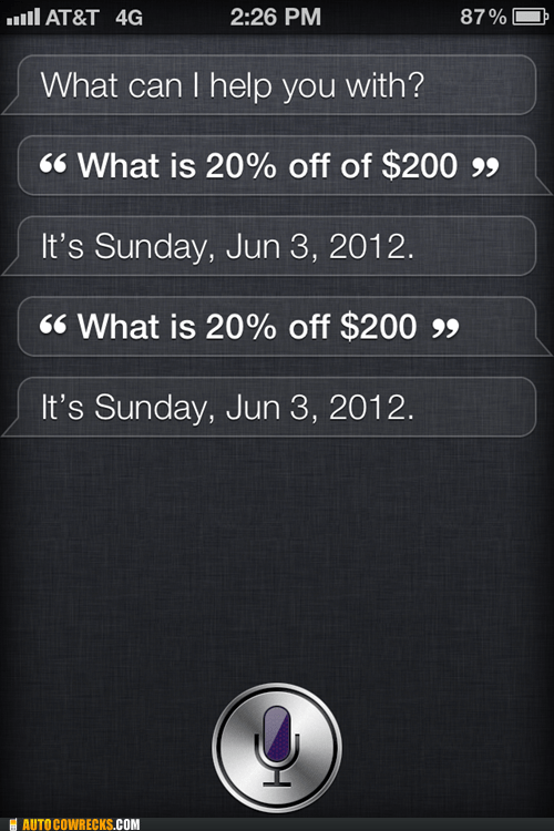 not helpful,percentages,siri,the date