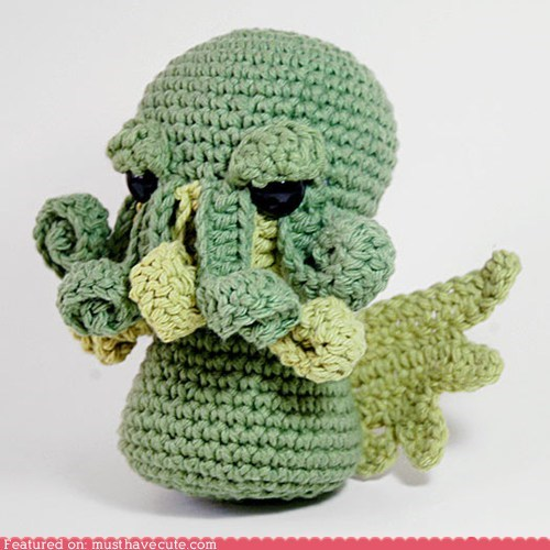 Amigurumi best of the week Crocheted cthulhu Plush toy - 6297309952