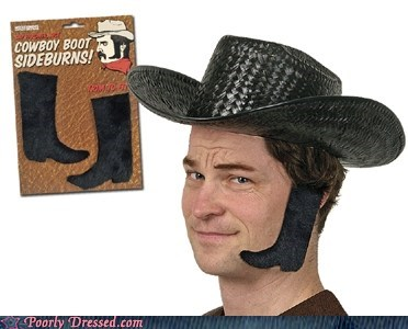 costume cowboy facial hair sideburns tacky - 6297394688