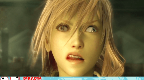 derp,final fantasy xiii,lightning,video game