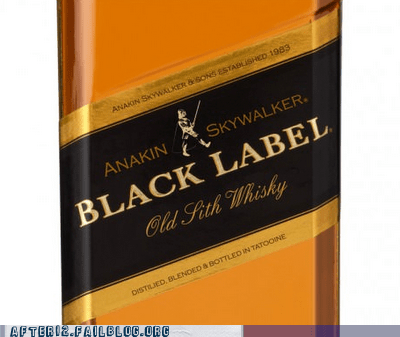 anakin skywalker black label johnnie walker johnnie walker black labe johnnie walker black label old sith whiskey scotch whiskey - 6297489664