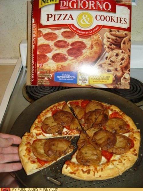 combination cook cookies pizza together