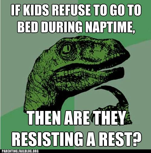 naptime philosoraptor resisting a rest - 6297643008