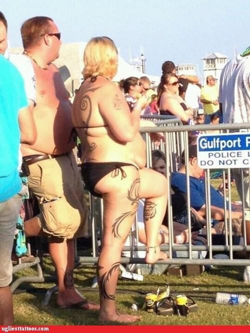 bikini,body tattoos,concert