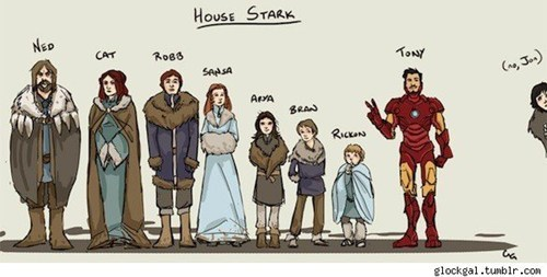 best of week,Fan Art,Game of Thrones,iron man,stark,tony stark