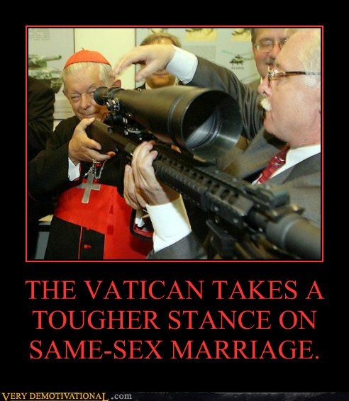 marriage,sniper rifle,Terrifying,vatican,wtf